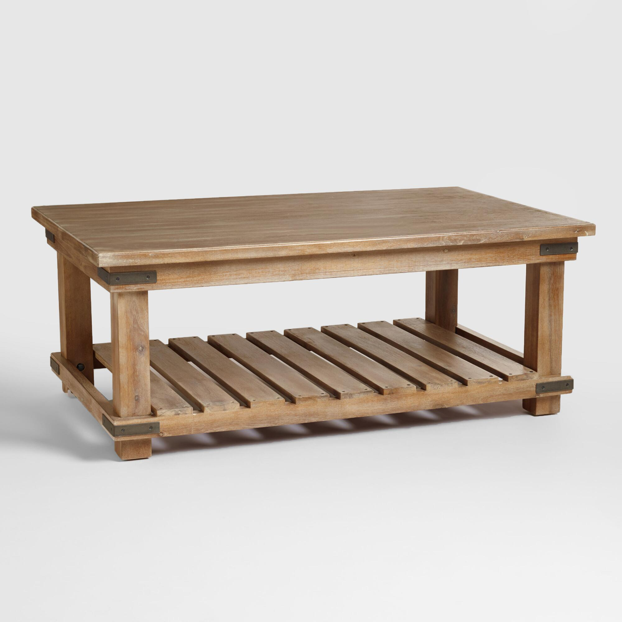 Cameron Coffee Table Brown Wood by World Market Homebop